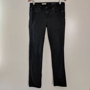AG The Stevie Slim Straight Leg Jeans Black 30